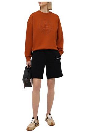 Женский хлопковый свитшот ACNE STUDIOS оранжевого цвета, арт. AI0081 | Фото 2
