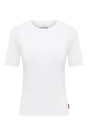 Женская хлопковая футболка ACNE STUDIOS белого цвета, арт. AL0202 | Фото 1
