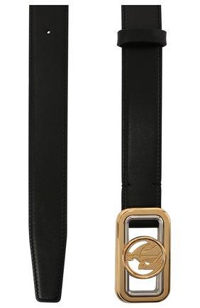 Женский кожаный ремень LANVIN черного цвета, арт. AW-BEMB0B-PALM-A20 | Фото 2