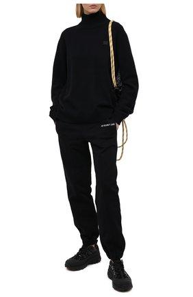 Женские хлопковые джоггеры HELMUT LANG черного цвета, арт. K10DW204 | Фото 2