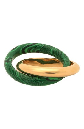 Женское кольцо BOTTEGA VENETA зеленого цвета, арт. 651209/VCCU3   Фото 1