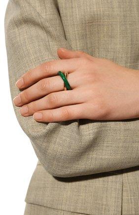 Женское кольцо BOTTEGA VENETA зеленого цвета, арт. 651209/VCCU3   Фото 2