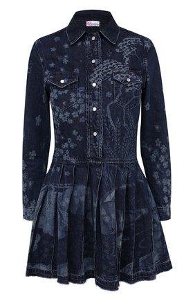 Женское джинсовое платье REDVALENTINO темно-синего цвета, арт. VR3DA00U/5P0 | Фото 1