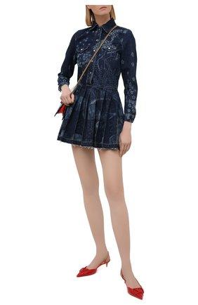 Женское джинсовое платье REDVALENTINO темно-синего цвета, арт. VR3DA00U/5P0 | Фото 2