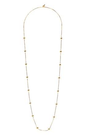 Женское колье BOTTEGA VENETA золотого цвета, арт. 649204/VAHU0 | Фото 1 (Материал: Серебро)