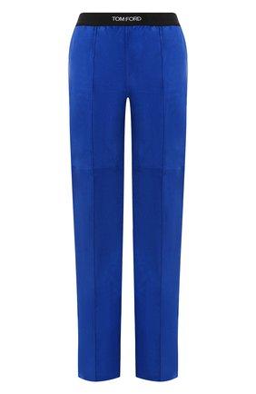 Женские замшевые брюки TOM FORD синего цвета, арт. PAL713-LEX257 | Фото 1