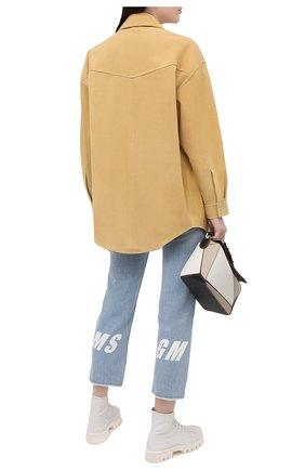Женские джинсы MSGM голубого цвета, арт. 3041MDP44LX 217276   Фото 2