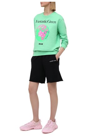 Женский хлопковый свитшот MSGM зеленого цвета, арт. 3041MDM193 217119   Фото 2