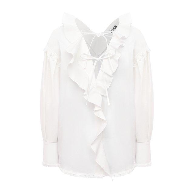Хлопковая блузка MSGM