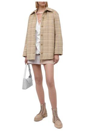 Женская хлопковая блузка MSGM белого цвета, арт. 3041MDM17 217104   Фото 2