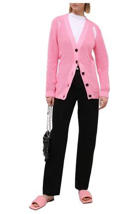 Женский хлопковый кардиган MSGM светло-розового цвета, арт. 3041MDM121 217291 | Фото 2