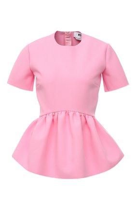 Женский топ MSGM светло-розового цвета, арт. 3041MDM07 217100 | Фото 1