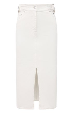 Женская джинсовая юбка MSGM белого цвета, арт. 3041MDD42T 217279 | Фото 1