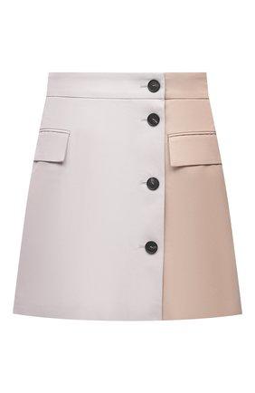 Женская хлопковая юбка MSGM бежевого цвета, арт. 3041MDD11Y 217105   Фото 1
