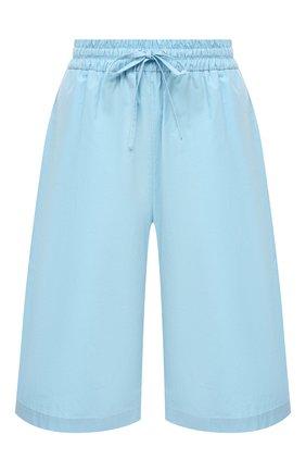 Женские хлопковые шорты MSGM голубого цвета, арт. 3041MDB01 217104   Фото 1