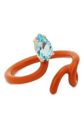 Женское кольцо BEA BONGIASCA оранжевого цвета, арт. VR111YGS-0M0/M   Фото 1 (Материал: Металл)