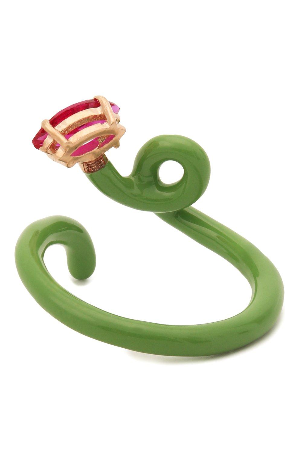 Женское кольцо BEA BONGIASCA зеленого цвета, арт. VR113RGS/M | Фото 2