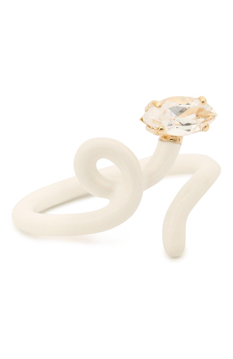Женское кольцо BEA BONGIASCA белого цвета, арт. VR114YGS/M | Фото 1 (Материал: Металл)