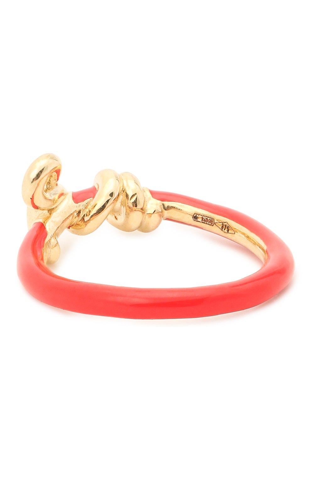 Женское кольцо BEA BONGIASCA красного цвета, арт. VR119YG-R/M   Фото 2 (Материал: Металл)