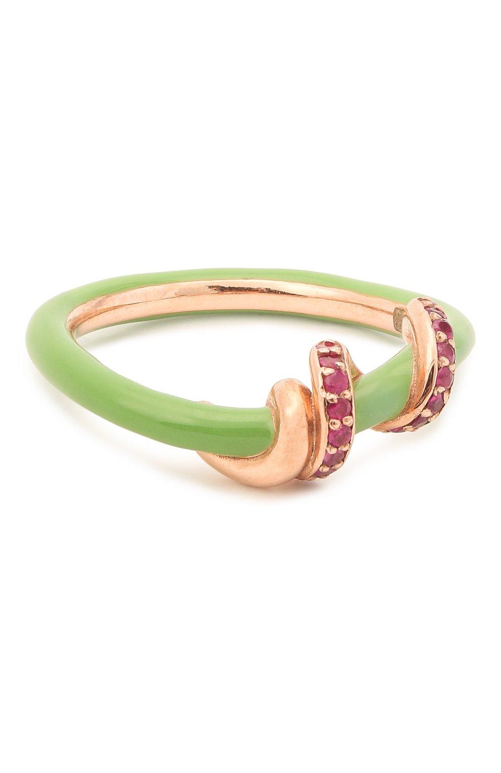 Женское кольцо BEA BONGIASCA зеленого цвета, арт. VR122RGS-G/M | Фото 1 (Материал: Металл)