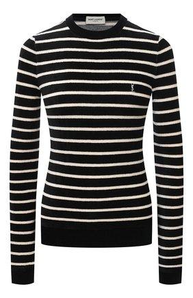 Женский пуловер из вискозы SAINT LAURENT черно-белого цвета, арт. 634758/YBUC2   Фото 1