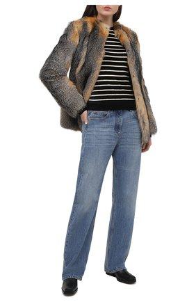 Женский пуловер из вискозы SAINT LAURENT черно-белого цвета, арт. 634758/YBUC2   Фото 2