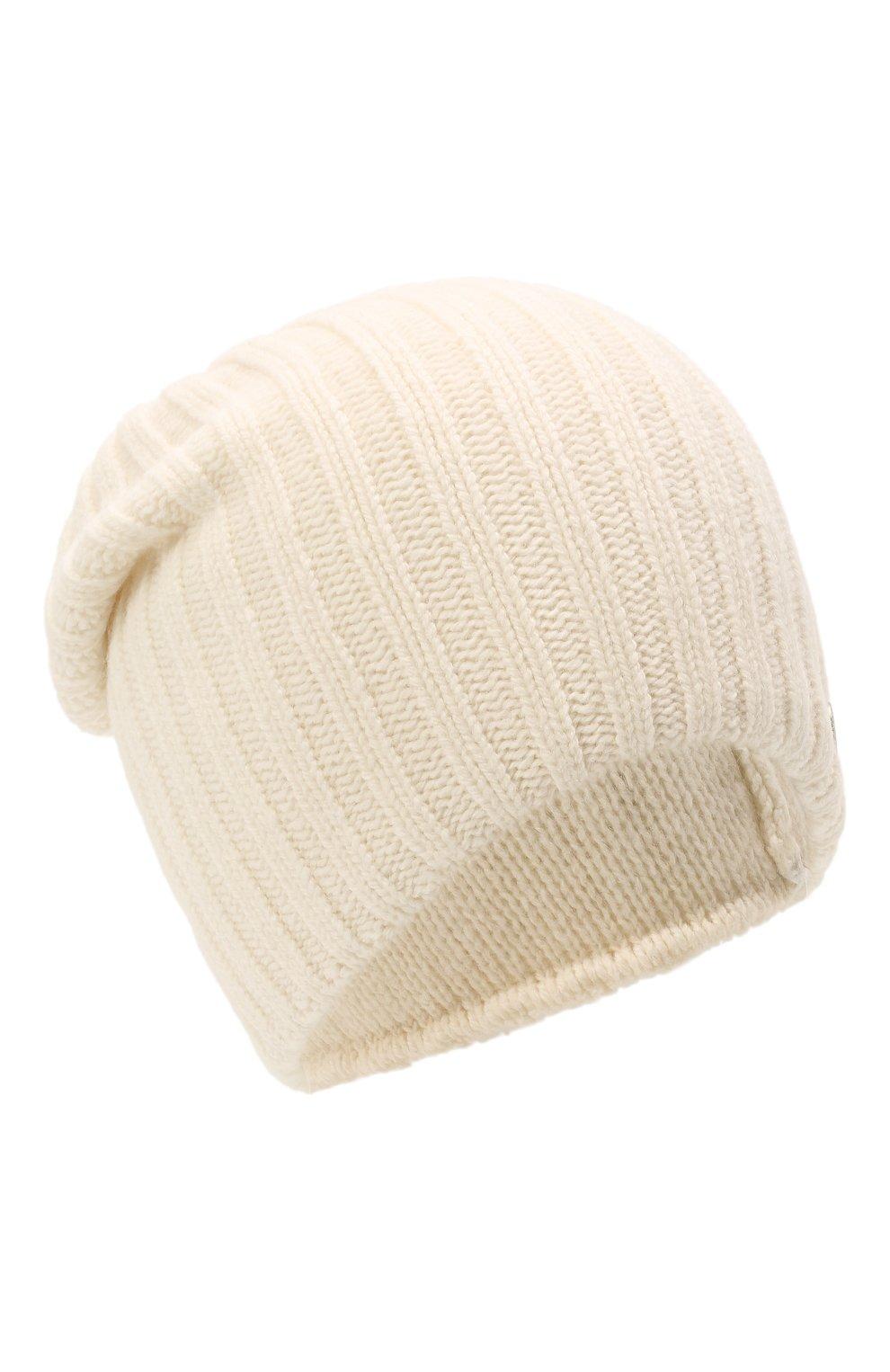 Мужская шерстяная шапка soft CANOE белого цвета, арт. 4714100   Фото 1 (Материал: Шерсть; Кросс-КТ: Трикотаж)
