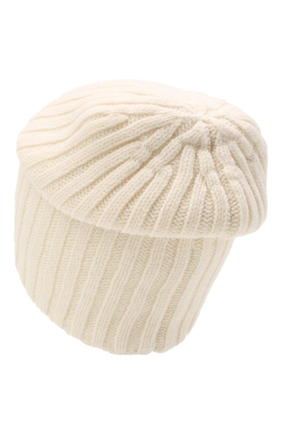 Мужская шерстяная шапка soft CANOE белого цвета, арт. 4714100   Фото 2 (Материал: Шерсть; Кросс-КТ: Трикотаж)