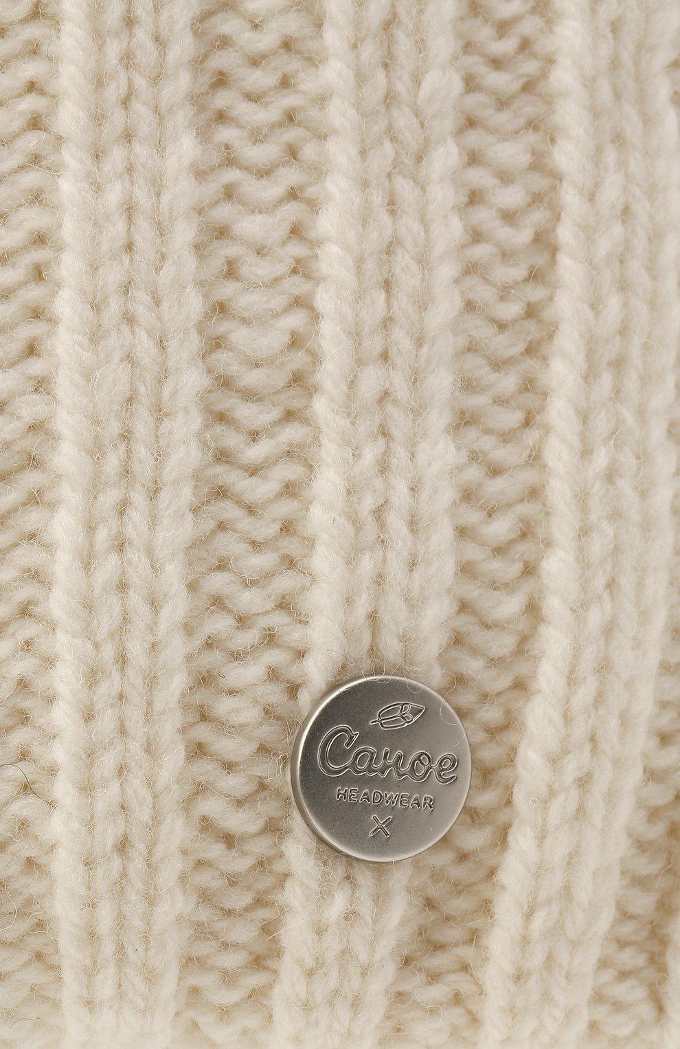 Мужская шерстяная шапка soft CANOE белого цвета, арт. 4714100   Фото 3 (Материал: Шерсть; Кросс-КТ: Трикотаж)