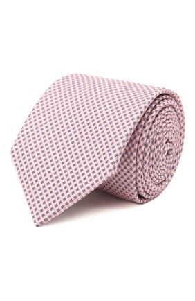 Мужской шелковый галстук BOSS розового цвета, арт. 50451892 | Фото 1