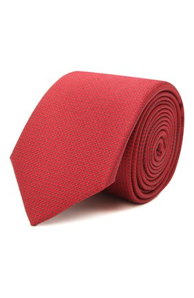 Мужской шелковый галстук BOSS красного цвета, арт. 50452179 | Фото 1