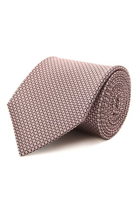 Мужской шелковый галстук BOSS розового цвета, арт. 50452270 | Фото 1