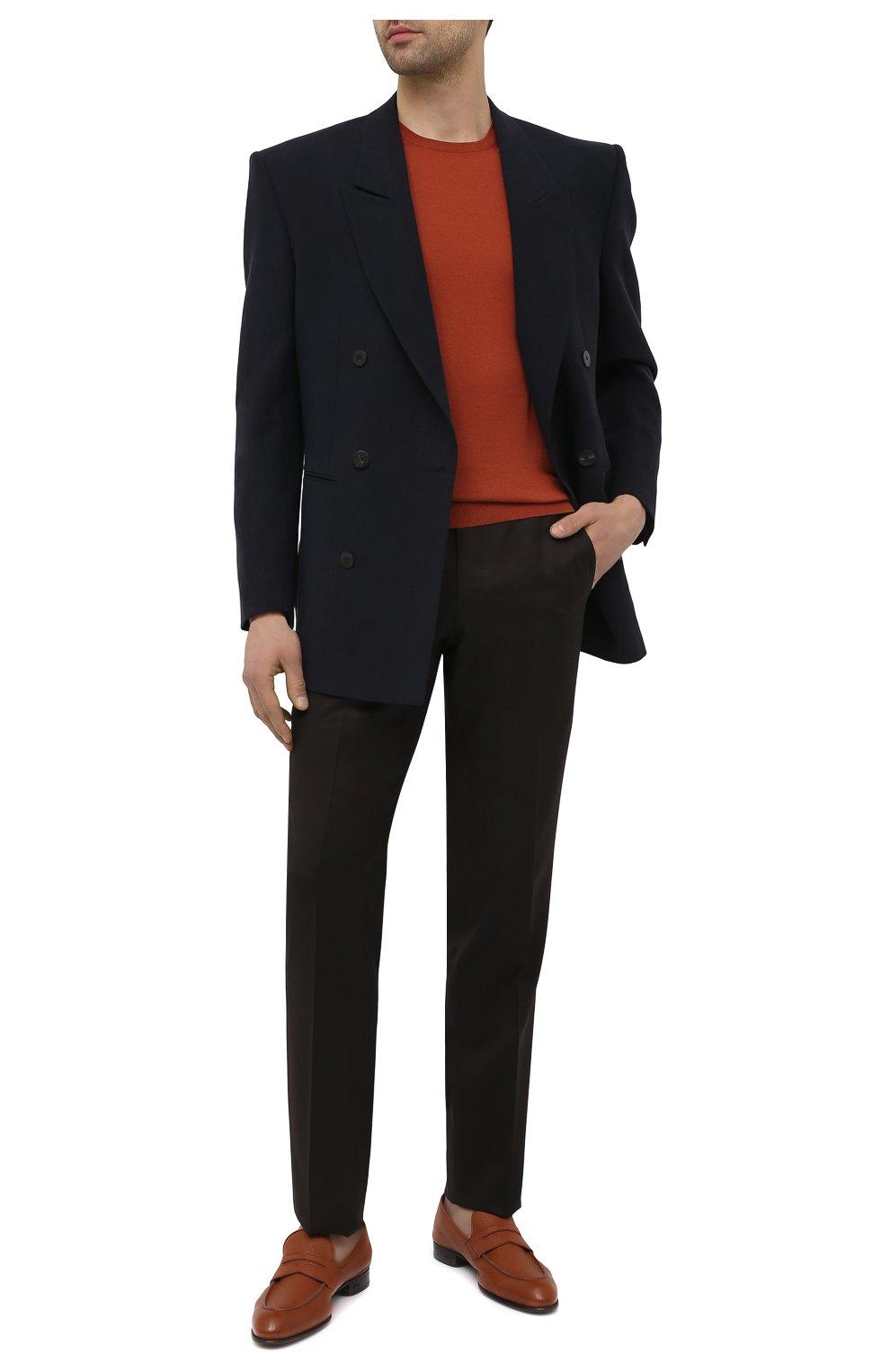 Мужские кожаные пенни-лоферы BRIONI коричневого цвета, арт. QEI30L/P7731 | Фото 2