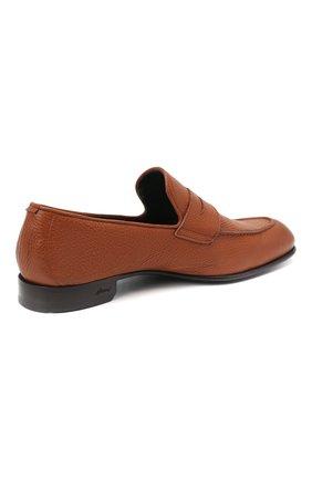 Мужские кожаные пенни-лоферы BRIONI коричневого цвета, арт. QEI30L/P7731 | Фото 4