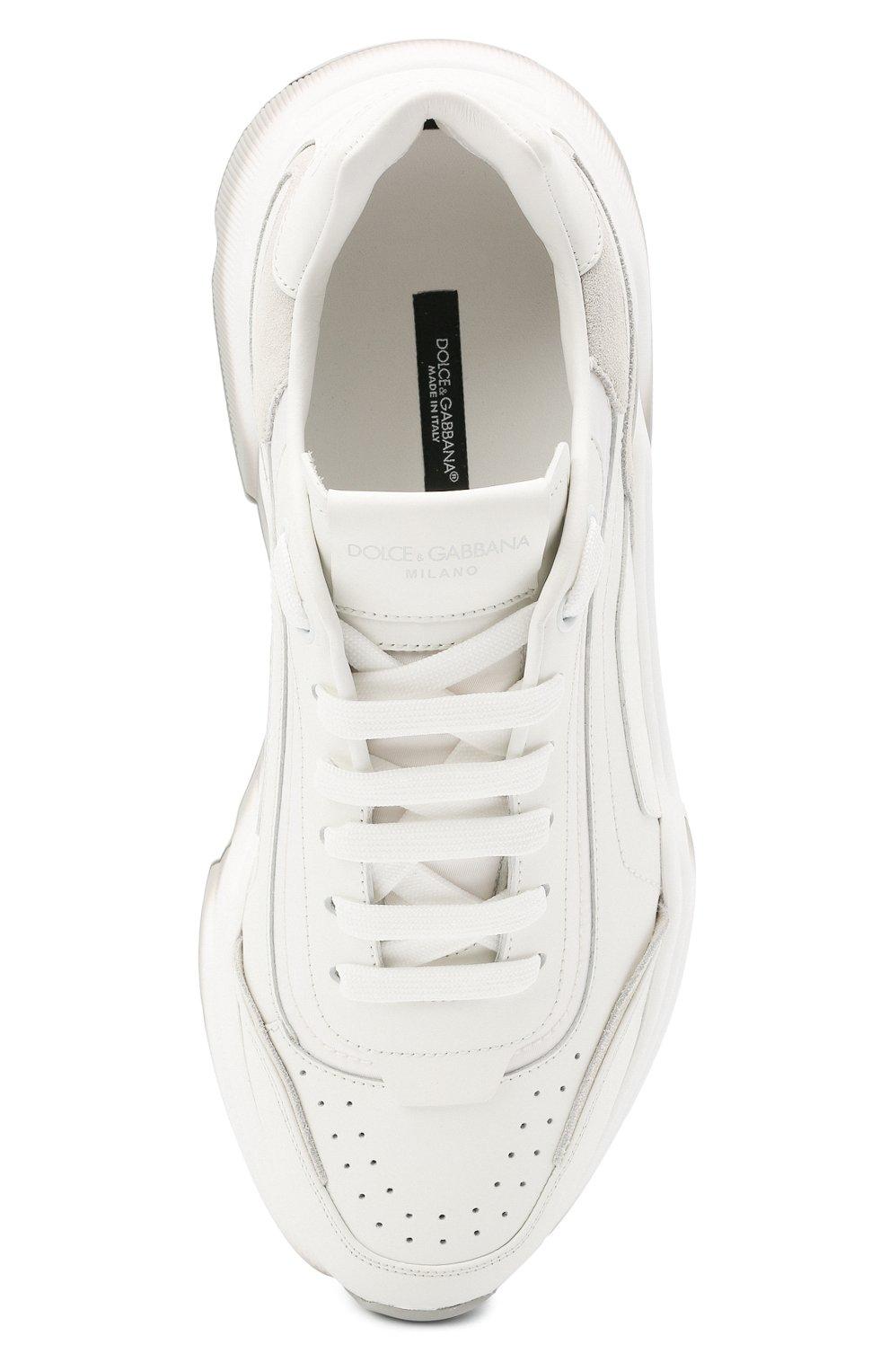 Мужские кожаные кроссовки daymaster DOLCE & GABBANA белого цвета, арт. CS1805/AW177   Фото 5