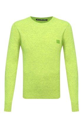 Мужской шерстяной свитер ACNE STUDIOS салатового цвета, арт. C60023/M | Фото 1