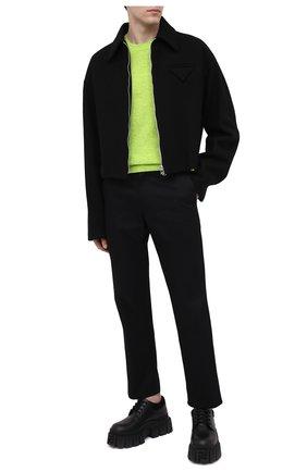 Мужской шерстяной свитер ACNE STUDIOS салатового цвета, арт. C60023/M | Фото 2