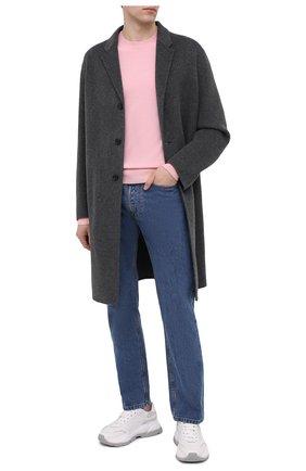Мужской шерстяной свитер ACNE STUDIOS розового цвета, арт. C60025/M | Фото 2 (Длина (для топов): Стандартные; Материал внешний: Шерсть; Рукава: Длинные; Мужское Кросс-КТ: Свитер-одежда; Принт: Без принта; Стили: Минимализм)