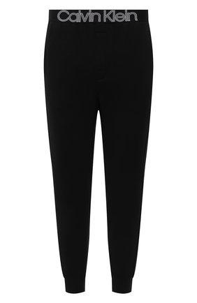 Мужские домашние джоггеры CALVIN KLEIN черного цвета, арт. NM1833E   Фото 1 (Материал внешний: Синтетический материал, Хлопок; Длина (брюки, джинсы): Стандартные; Кросс-КТ: домашняя одежда; Мужское Кросс-КТ: Брюки-белье)