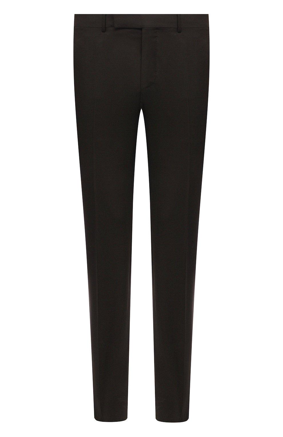 Мужские шерстяные брюки ERMENEGILDO ZEGNA коричневого цвета, арт. 940F06/75TB12   Фото 1