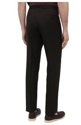 Мужские шерстяные брюки ERMENEGILDO ZEGNA коричневого цвета, арт. 940F06/75TB12   Фото 4