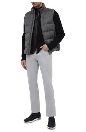 Мужские джинсы ERMENEGILDO ZEGNA светло-серого цвета, арт. UWI77/JS01 | Фото 2