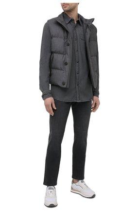 Мужская джинсовая рубашка ERMENEGILDO ZEGNA светло-серого цвета, арт. UWX27/STT3 | Фото 2