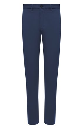 Мужские хлопковые брюки Z ZEGNA синего цвета, арт. VW148/ZZ369 | Фото 1 (Материал внешний: Хлопок; Стили: Кэжуэл; Случай: Повседневный; Длина (брюки, джинсы): Стандартные; Силуэт М (брюки): Чиносы)