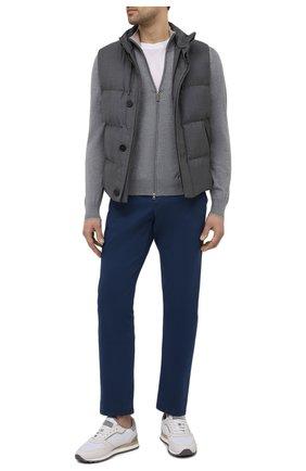 Мужские хлопковые брюки Z ZEGNA синего цвета, арт. VW148/ZZ369 | Фото 2 (Материал внешний: Хлопок; Стили: Кэжуэл; Случай: Повседневный; Длина (брюки, джинсы): Стандартные; Силуэт М (брюки): Чиносы)