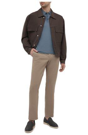 Мужские хлопковые брюки Z ZEGNA бежевого цвета, арт. VW148/ZZ369 | Фото 2