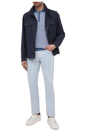 Мужские джинсы Z ZEGNA светло-голубого цвета, арт. VW758/ZZ530 | Фото 2 (Материал внешний: Хлопок; Длина (брюки, джинсы): Стандартные; Кросс-КТ: Деним; Стили: Кэжуэл; Силуэт М (брюки): Прямые)