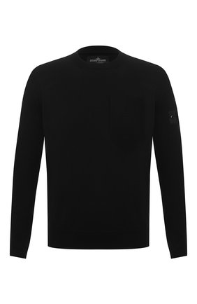 Мужской свитер из хлопка и шелка STONE ISLAND SHADOW PROJECT черного цвета, арт. 7419506A4   Фото 1