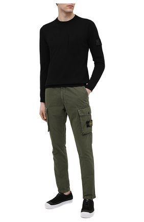 Мужской свитер из хлопка и шелка STONE ISLAND SHADOW PROJECT черного цвета, арт. 7419506A4   Фото 2