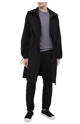 Мужская хлопковый лонгслив STONE ISLAND темно-серого цвета, арт. 741522713   Фото 2
